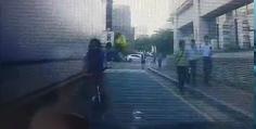 자전거와의 사고 영상입니다. 도움부탁드립니다.